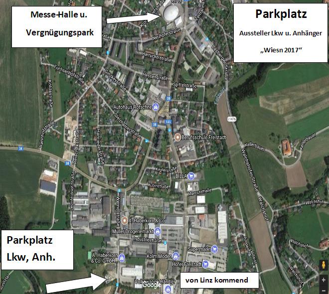 LKW Parkplätze Wiesn 2017